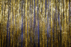 Happy New Year 2017 gold background tinsel.  Stock Image