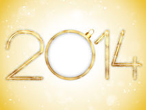 Happy New Year 2014 Gold Background Stock Photos