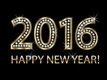 2016 Happy new year. Happy new year 2016 gold background vector Stock Photography
