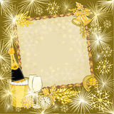 Happy New Year in gold backgrounds vector Royalty Free Stock Image