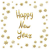 2016 Happy New Year gold card, greeting, decoration,. Art Royalty Free Stock Photos