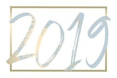 2019 New Year decoration design. 2019 Happy New Year Gold design decoration elements royalty free illustration