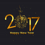 2017 Happy New Year Gold Glossy Background. Vector Illustration. EPS10 Royalty Free Stock Photos