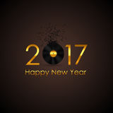 2017 Happy New Year Gold Glossy Background. Vector Illustration Royalty Free Stock Photography