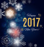 2017 Happy New Year Gold Glossy Background. Vector Illustration Stock Photography