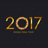 2017 Happy New Year Gold Glossy Background. Vector Illustration Royalty Free Stock Images
