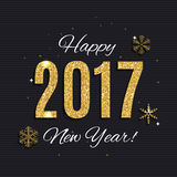 2017 Happy New Year Gold Glossy Background. Vector Illustration Royalty Free Stock Photos