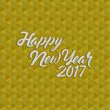 Happy new year 2017 gold illustration. Design background royalty free illustration