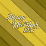 Happy new year 2017 gold lines. Illustration design background stock illustration