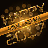 Happy New Year 2017 gold luxury vector. Happy New Year 2017 gold luxury design vector illustration Stock Photo