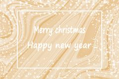 Happy new year with Gold marble background. Christmas holidays background with copy space for your text, Happy new year with Gold marble background for design royalty free illustration