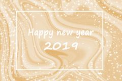 Happy new year with Gold marble background. Happy new year with Gold marble background for design royalty free illustration