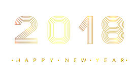 2018 Happy new year. Royalty Free Stock Image