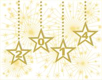 Happy new year 2014 gold stars. Happy new year 2014 background royalty free illustration