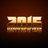 Happy New Year 2015 - gold style. In vector Stock Images