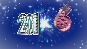 Happy New Year 2016 gold text stock video