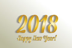 2018 Happy new year gold vector Royalty Free Stock Photos