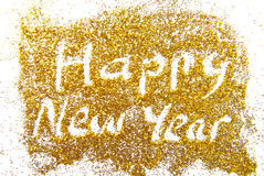 Happy New Year golde Stock Photography