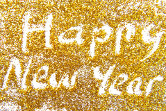 Happy New Year golde Royalty Free Stock Photo