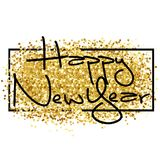 Happy new year. Golden background for flyer, poster, sign,. Happy new year. Gold glitter 2018. Golden background for flyer, poster, sign, banner web header Royalty Free Stock Photography