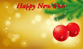 Happy New Year golden background Royalty Free Stock Photos