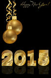 Happy new 2015 year golden background. Vector illustration Stock Illustration