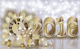 Happy new 2016 year golden banner. Vector Stock Image