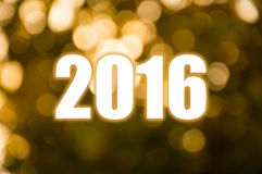 Happy New Year golden blur light Royalty Free Stock Photos