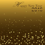 Happy New Year 2016. Golden bokeh blinking background Stock Images