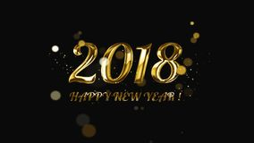 2018 Happy New year. New year 2018 golden color