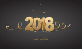 Happy New Year 2018 Stock Image