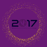 Happy new year with golden glitter background. Golden glitter vector Royalty Free Stock Image