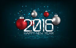 Happy New Year 2016 Golden Greeting Card Stock Images