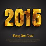 Happy New Year 2015 golden greeting card Royalty Free Stock Photo