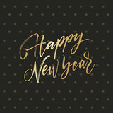 Happy New Year golden gritting card Royalty Free Stock Image
