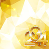 Happy new year in golden style. Creative golden happy new year design illustration Stock Photos