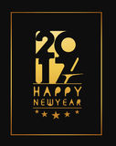 Happy new year 2017 Golden Text Design Stock Image