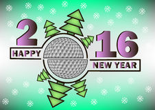 Happy new year and golf ball