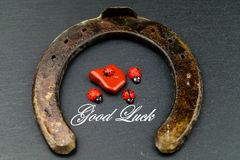 Happy new year and good luck. All the time Stock Photography