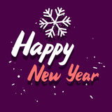 Happy New Year graphic card Stock Images