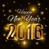 Happy new year 2016. Happy  year  graphic design,  illustration Royalty Free Stock Photography