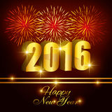 Happy new year 2016. Happy  year  graphic design,  illustration Stock Images
