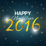 Happy new year 2016. Graphic design,  illustration Royalty Free Stock Photography