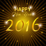 Happy new year 2016. Graphic design,  illustration Stock Photography