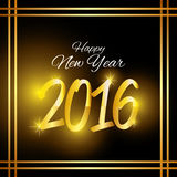 Happy new year 2016. Graphic design,  illustration Royalty Free Stock Image