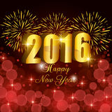 Happy new year 2016. Graphic design,  illustration Royalty Free Stock Images