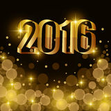 Happy new year 2016. Graphic design,  illustration Royalty Free Stock Photo
