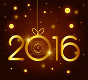 Happy new year 2016. Graphic design,  illustration Royalty Free Stock Photos