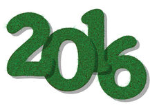 2016 HAPPY NEW YEAR GRASS Royalty Free Stock Photo