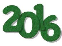 2016 HAPPY NEW YEAR GRASS Royalty Free Stock Photo